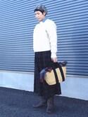 kcocoronさんの「【MUUN/ムーニュ】2WAYカゴバッグ(MUUN|ムーニュ)」を使ったコーディネート