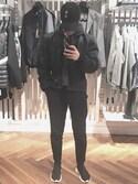 「Balenciaga Stretch-Mesh High-Top Sneaker, Noir(Balenciaga)」 using this 毕安张 looks