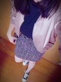 ぱとさんさんの「カラーツイード台形スカート(PAGEBOY|シマムラ)」を使ったコーディネート