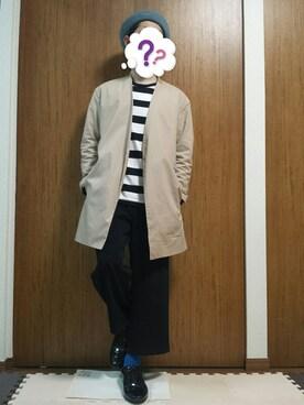 【J】(ベレー帽ゴリ推し隊☺✨)さんの「MEN 無地カラーソックス(消臭機能付き)(ユニクロ|ユニクロ)」を使ったコーディネート