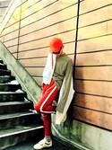 TETUさんの「VANS ヴァンズ Style 36 VN0A3DZ3OXS Marshmallow/Racing Red(VANS|バンズ)」を使ったコーディネート