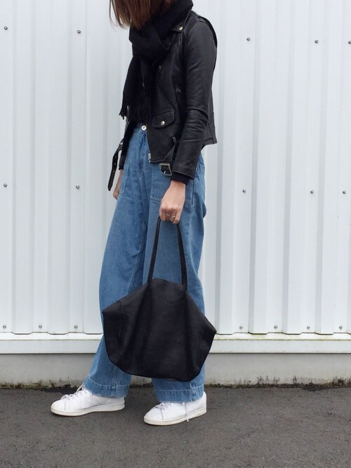 cota_raさんの「■別注■beautiful people×MIDWEST ライダースジャケット(beautiful people)」を使ったコーディネート