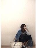rikakukoさんの「KNIT BUSTIER(MOUSSY|マウジー)」を使ったコーディネート