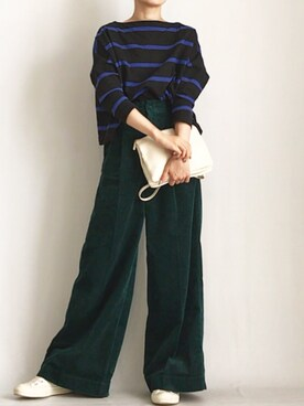aimee♡エイミーさんの「BIG MARINE BOATNECK SHIRT【Traditional Weatherwear】(Traditional Weatherwear)」を使ったコーディネート