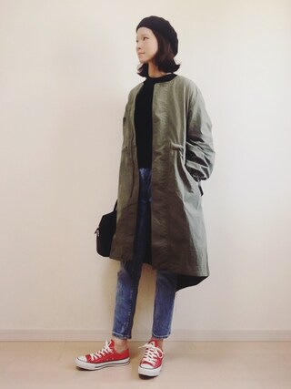 「HOODIE LONG MILITARY				(SLY)」 using this non looks