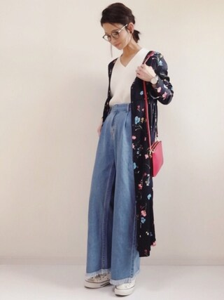 「DOORS ダークフラワーガウンワンピース(URBAN RESEARCH DOORS WOMENS)」 using this non looks