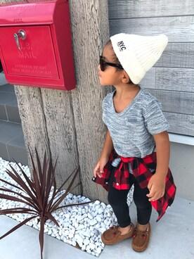 ichiさんの「ビエラ起毛チェックシャツ(AZUL by moussy|アズールバイマウジー)」を使ったコーディネート