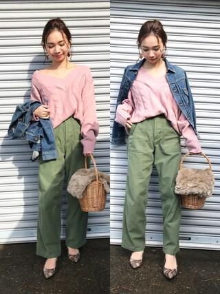 mao♡さんの「デニムシーンズジャケット(TODAYFUL|トゥデイフル)」を使ったコーディネート