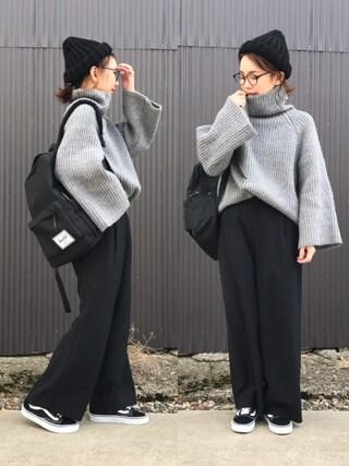 「【Black Sheep/ブラックシープ】 CHUNKY HAT MODIFIED #(Black Sheep)」 using this mao♡ looks