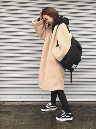 「WEGO/カラー起毛ビッグプルパーカー(WEGO)」 using this mao♡ looks