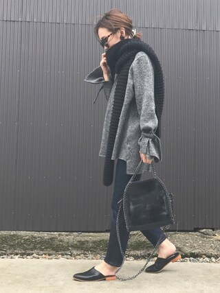 mao♡さんの「リボンスリットスリーブニットプルオーバー(titivate|ティティベイト)」を使ったコーディネート
