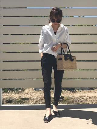 mao♡さんの「スキッパーベーシックシャツ(fifth|フィフス)」を使ったコーディネート
