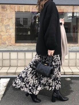 maoさんのスカート「プリーツロングスカート(titivate ティティベイト)」を使ったコーディネート