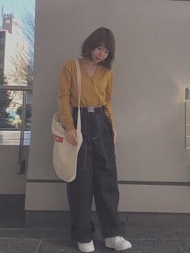 MILKFED. AT HEAVEN27 名古屋|SAYAKA  さんの「HEART PATCH CARDIGAN(MILKFED.|ミルクフェド)」を使ったコーディネート