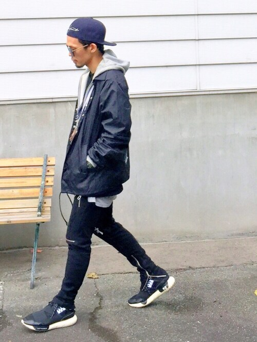 TogAさんの「Yohji Yamamoto/ヨウジヤマモト/5950YY REAR LOGO CAP(Yohji Yamamoto)」を使ったコーディネート