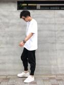 TogAさんの「【adidas】XBYO SS TEE(adidas originals|ハイク)」を使ったコーディネート
