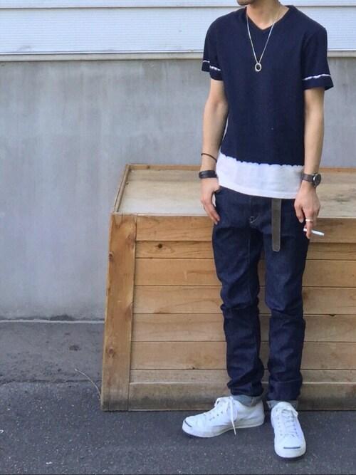 白×青のアーバンマリンジャックパーセルコーデ 画像1
