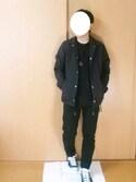 x kakeru xさんの「【WEB店舗限定】GIベルト ライン(ADPOSION|アドポーション)」を使ったコーディネート
