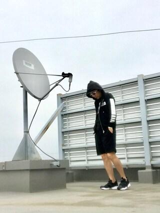 HIROさんの「MOERY SPORT 2017SS メンズ MSFCセットアップ(Moery Sport モエリースポーツ)」を使ったコーディネート