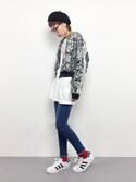 yucoさんの「【adidas Originals by The Farm Company】 ジャケット [FLORIDO CAPE](adidas アディダス)」を使ったコーディネート