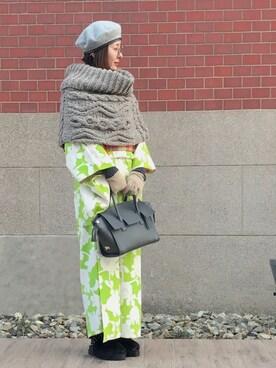 なるラムさんの「フラップハンドバッグ/ショルダーバッグ【PLAIN CLOTHING】(PLAIN CLOTHING)」を使ったコーディネート