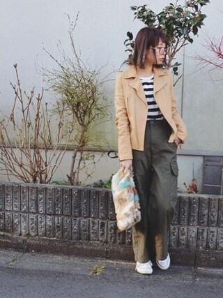 masa-miさんの「ミックスフェイクファークラッチバッグ/ショルダーバッグ【PLAIN CLOTHING】(PLAIN CLOTHING|プレーンクロージング)」を使ったコーディネート