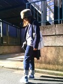 Atsu さんの「KAIHARA ストレートスキニーデニムパンツ(UNTITLED|アンタイトル)」を使ったコーディネート