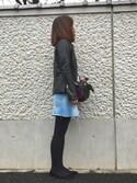 Atsu さんの「◆ダメージ ミニスカート(Deuxieme Classe|ドゥーズィエムクラス)」を使ったコーディネート