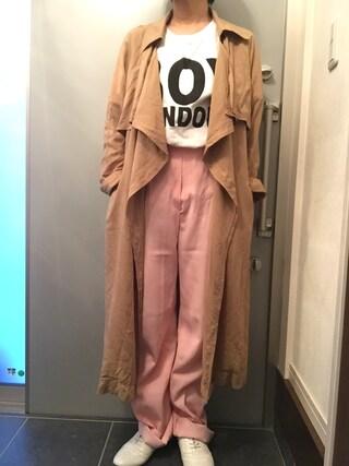 サオルさんの「BOY LONDON/ボーイロンドン プリントTシャツ(BIG)(BOY LONDON|ボーイロンドン)」を使ったコーディネート