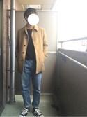 Keeeiさんの「ウールステンカラーコート(URBAN RESEARCH|アーバンリサーチ)」を使ったコーディネート
