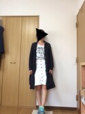 ( み )さんの「7.5ozスラブインディゴデニムスカート(w closet ダブルクローゼット)」を使ったコーディネート