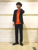 鈴木 雄大さんの「ニットTシャツ(ADAM ET ROPE'|アダム エ ロペ)」を使ったコーディネート