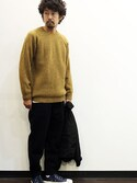 "nakajiさんの「Soglia (ソリア) "" LERWICK Sweater ""」を使ったコーディネート"
