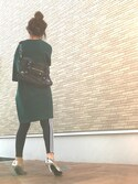 N A O M Iさんの「レディース アディダス ストライプ レギンス adidas WMNS 3STRIPES LEGGINGS AJ8156(adidas|アディダス)」を使ったコーディネート