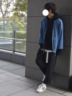 kazuyukiさんの「<monkey time>  DENIM SAMUE SHIRT SJSP/シャツ(MONKEY TIME)」を使ったコーディネート