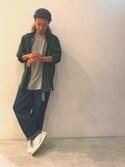 「コットンブロード 長袖ビッグシルエットシャツ(SEVENDAYS=SUNDAY)」 using this 伊宝田優真 looks