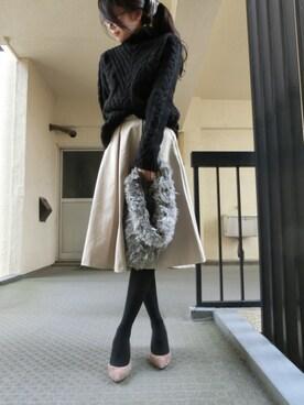 yomiさんの「プリーツ入りミディスカート(ZARA|ザラ)」を使ったコーディネート