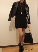 「ULTIMATE FAUX LEATHER BIKER JACKET/アルチメント フォークス レザー バイカージャケット(TOPSHOP)」 using this yomi looks
