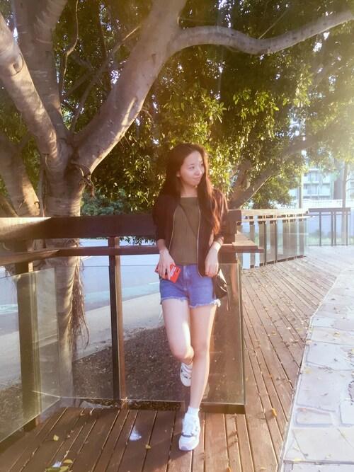 盛夏 is wearing TOPSHOP