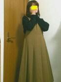 *mAki*さんの「KBF BIGプリーツジャンパースカート(KBF|ケイビーエフ)」を使ったコーディネート