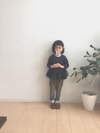「裾ぺプラム長袖ベーシックTシャツ(b-room)」 using this ao0227 looks