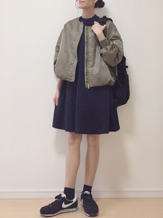 「サテンノーカラーMA-1 746571(apart by lowrys)」 using this MAYUKO looks