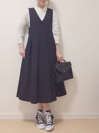 「KBF BIGプリーツジャンパースカート(KBF)」 using this MAYUKO looks