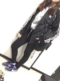 「<adidas originals> SST TRACK TOP/トラックジャケット(adidas originals)」 using this あやぽむ looks