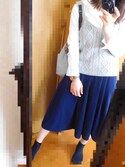 riさんの「ポケット付き9分袖TEE(ikka|イッカ)」を使ったコーディネート