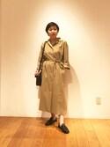 kataokaさんの「編み込みレザースリッポン WOMEN(CHAMULA|チャムラ)」を使ったコーディネート