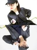 佐藤絵里香さんの「WOMEN ミリタリーブルゾン(ユニクロ|ユニクロ)」を使ったコーディネート
