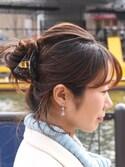 Histoire_officialさんの「べっ甲風サンカクバンスクリップ(ma chere Cosette?|マ シェール コゼット?)」を使ったコーディネート