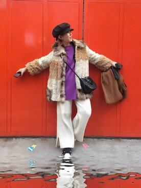 ARiK☺︎さんの「RIBBED JERSEY BOXY TOP(G.V.G.V.)」を使ったコーディネート