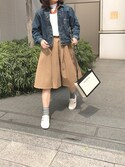 「Balenciaga Leather-Trimmed Canvas Clutch(Balenciaga)」 using this AKKIK looks